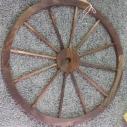 "30"" Wooden Wagon Wheel (x7) $5.00 each"