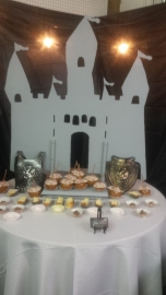 Castle Table  $40.00 / Tablecloth rental $3.00