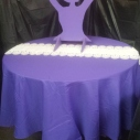 Large Ballerina Table  $40.00 / Tablecloth Rental $3.00