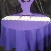 Large Ballerina Table $40.00 / Tablecloth Rental $3.00