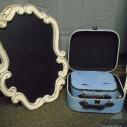 Antique Chalkboard $5.00 each / Blue suitcase set $6.00