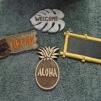 """""""Welcome"""" Leaf Sign $2.00 each """"Tiki Bar"""" Sign (x2) $3.00 each """"Aloha"""" Sign (x2) $3.00 each Blank Bamboo Chalkboard Sign (x2) $3.00 each"""