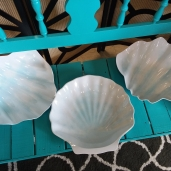Shell Bowls (x2)  $2.00each Shell Platter  $2.00
