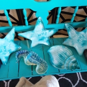 Star Plates (x3) $1.50 each Sea Horse  $1.50  Snail Shell Platter $1.50