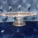 """Clear Cake Plate 12"""""""