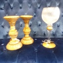 "Gold Candle Holder 9 1/2"" 12"" Gold Glass Votive Holder"