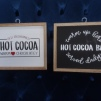 Hot Cocoa Sign, 9 1/2 x 11 1/2